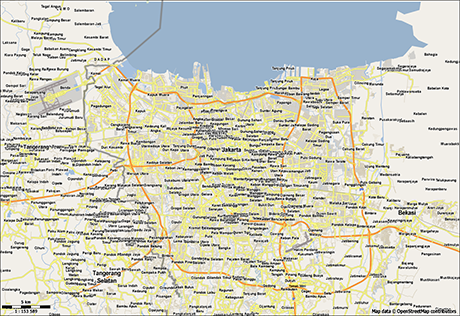 Vector Map of Jakarta Free Vector Maps