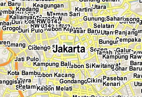 Vector Map of Jakarta