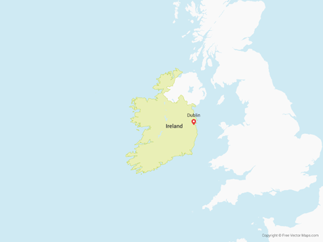 Free Vector Map of Republic of Ireland