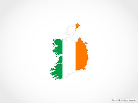 Free Vector Map of Republic of Ireland - Flag