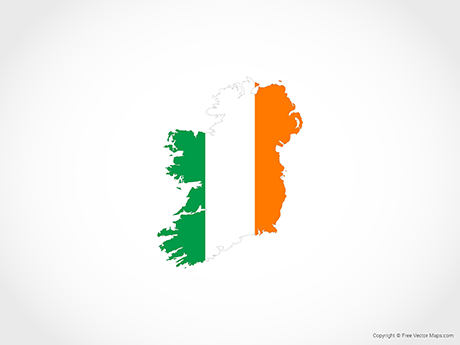 Free Vector Map of Ireland - Flag