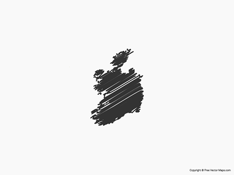 Free Vector Map of Republic of Ireland - Sketch