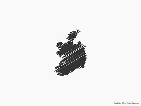 Free Vector Map of Republic of Ireland - Sketch