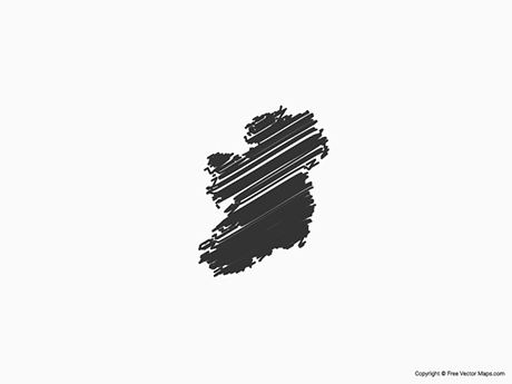 Free Vector Map of Ireland - Sketch