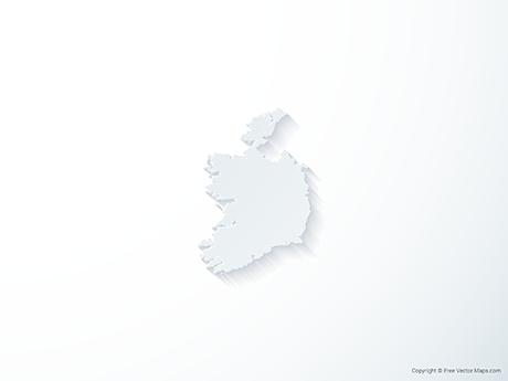 Free Vector Map of Republic of Ireland - 3D