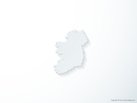 Free Vector Map of Ireland - 3D