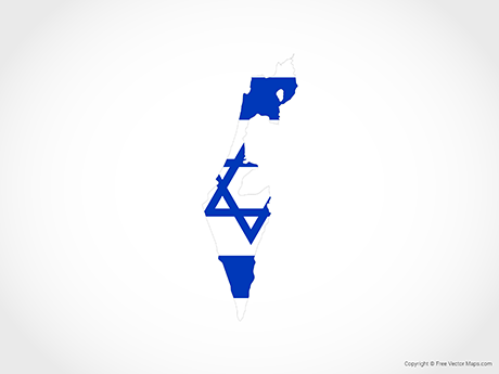 Free Vector Map of Israel - Flag