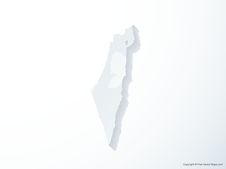 Free Vector Map of Israel & Palestinian Territories - 3D