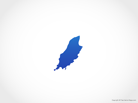 Free Vector Map of Isle of Man - Blue