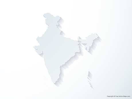Free Vector Map of India - 3D