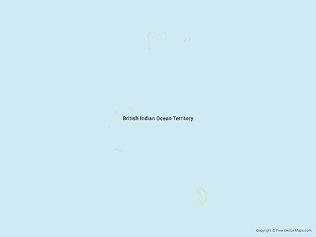 Free Vector Map of British Indian Ocean Territory