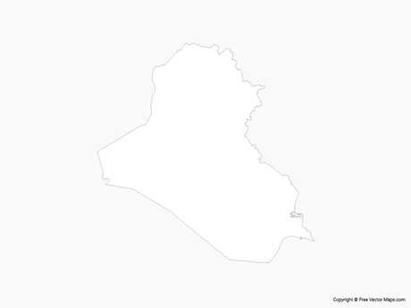 Free Vector Map of Iraq - Outline