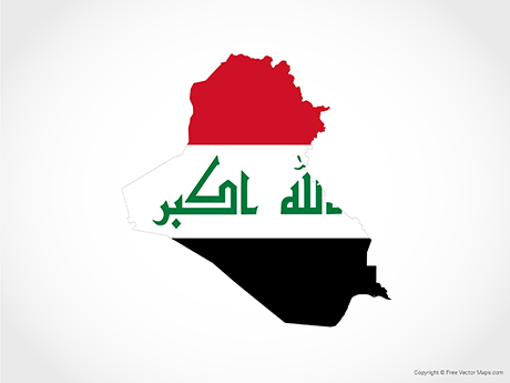 Vector Map of Iraq - Flag | Free Vector Maps