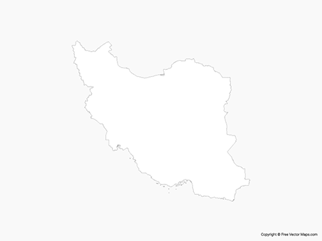 Free Vector Map of Iran - Outline