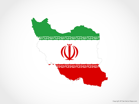 Free Vector Map of Iran - Flag