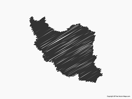 Free Vector Map of Iran - Sketch