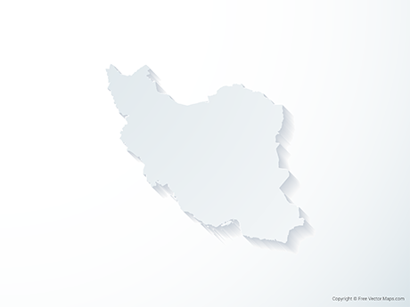Free Vector Map of Iran - 3D
