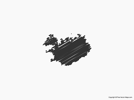 Free Vector Map of Iceland - Sketch