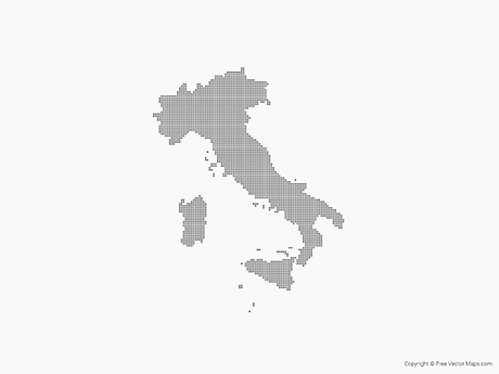 Free Vector Map of Italy - Dots