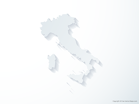 Free Vector Map of Italy - 3D
