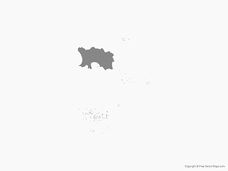Free Vector Map of Jersey - Single Color