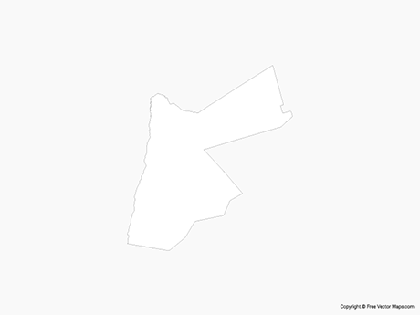Free Vector Map of Jordan - Outline