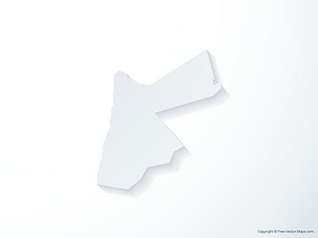 Free Vector Map of Jordan - 3D