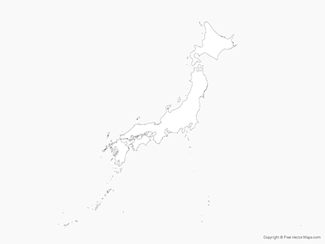 Free Vector Map of Japan - Outline