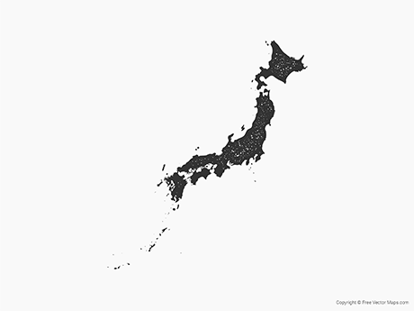 Free Vector Map of Japan - Stamp