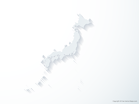Free Vector Map of Japan - 3D