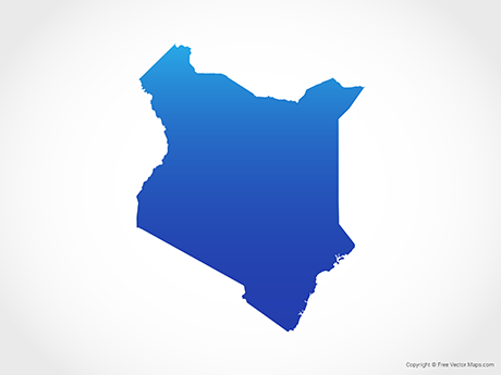Vector Map of Kenya - Blue | Free Vector Maps