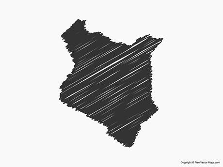 Free Vector Map of Kenya - Sketch
