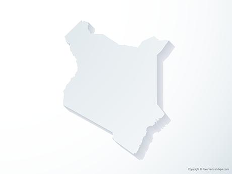 Free Vector Map of Kenya - 3D