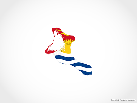 Free Vector Map of Kiribati - Flag