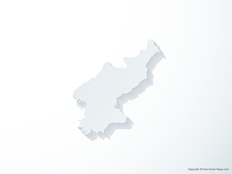 Free Vector Map of North Korea - 3D