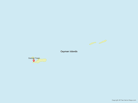 Free Vector Map of Cayman Islands