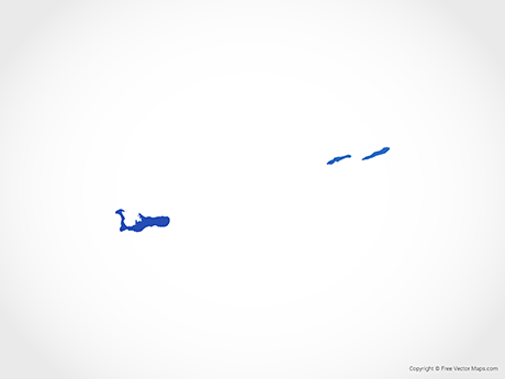 Free Vector Map of Cayman Islands - Blue