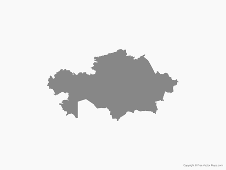 Vector Map Of Kazakhstan Single Color Free Vector Maps