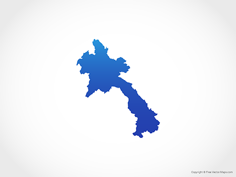 Free Vector Map of Laos - Blue
