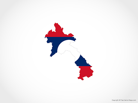Free Vector Map of Laos - Flag