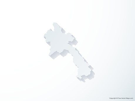 Free Vector Map of Laos - 3D