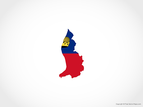 Free Vector Map of Liechtenstein - Flag