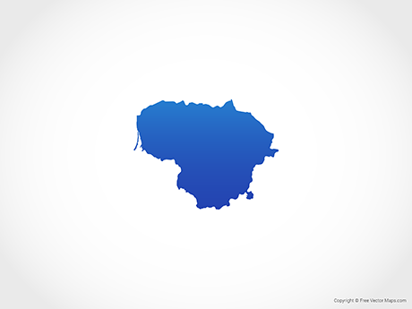 Free Vector Map of Lithuania - Blue