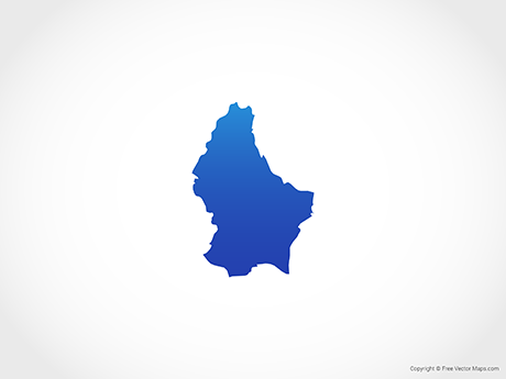 Free Vector Map of Luxembourg - Blue