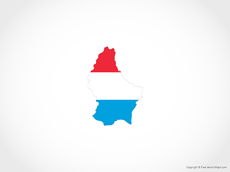Free Vector Map of Luxembourg - Flag