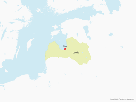 Free Vector Map of Latvia