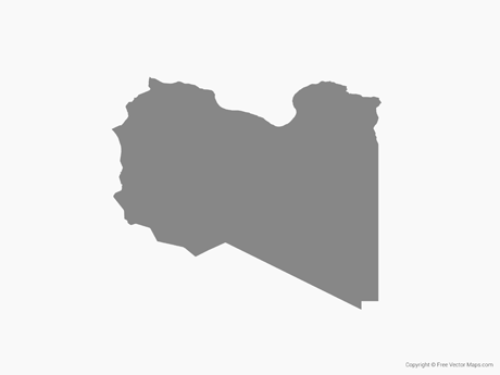 Free Vector Map of Libya - Single Color