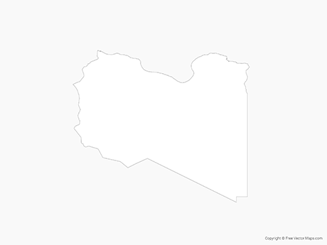 Free Vector Map of Libya - Outline