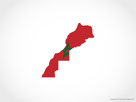Free Vector Map of Morocco - Flag
