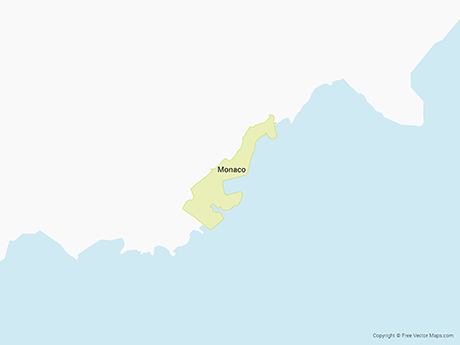 Free Vector Map of Monaco